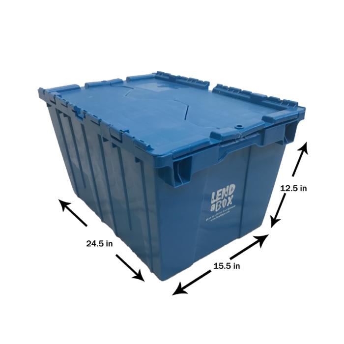 Lend A Box | Blue Box Dimensions